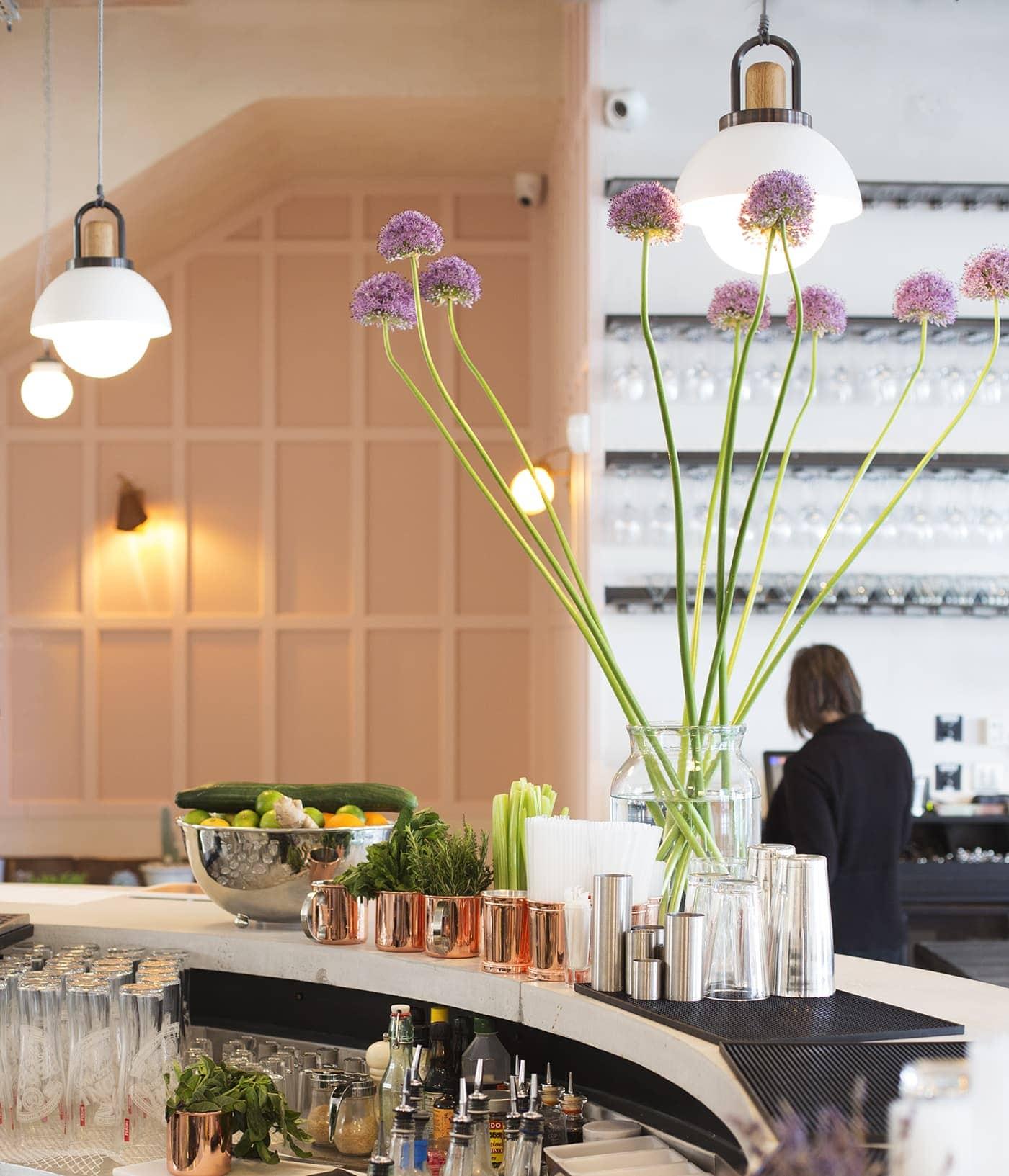 no197 chiswick firestation | interiors | bar | blush walls