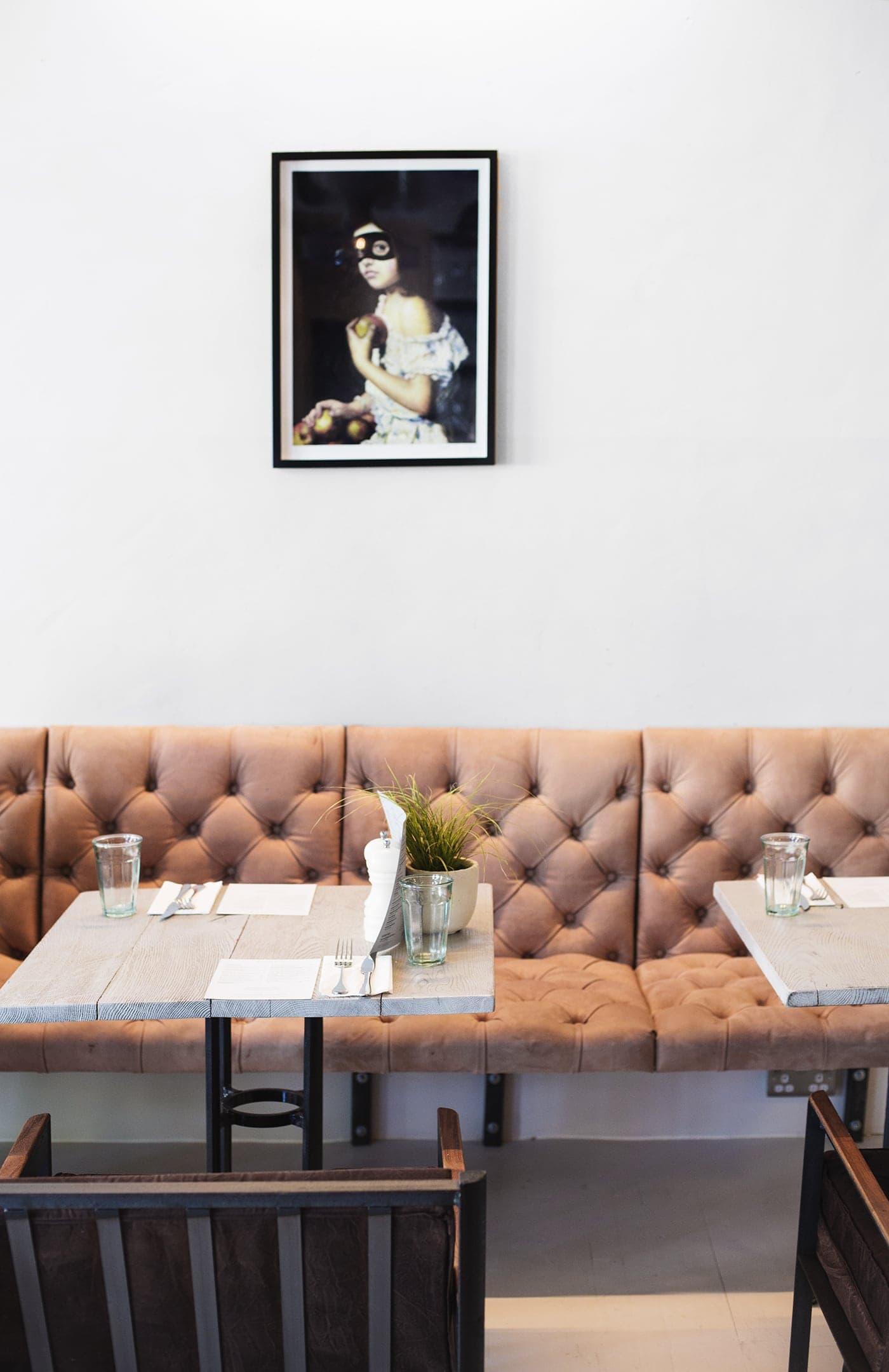 no197 chiswick firestation | interiors | blush velvet sofa