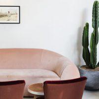 no197 chiswick firestation   interiors   velvet sofas