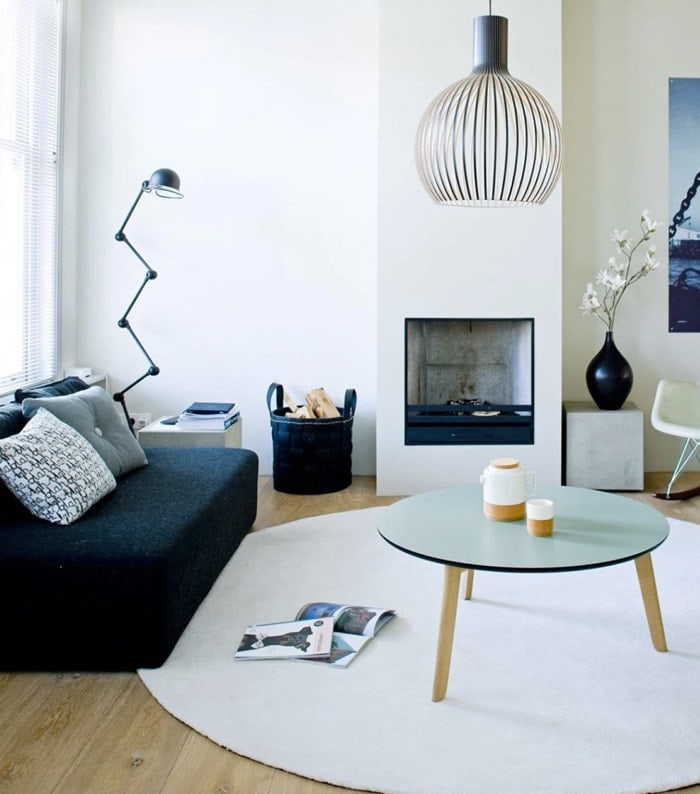 rugs in the home | living room | circular rug