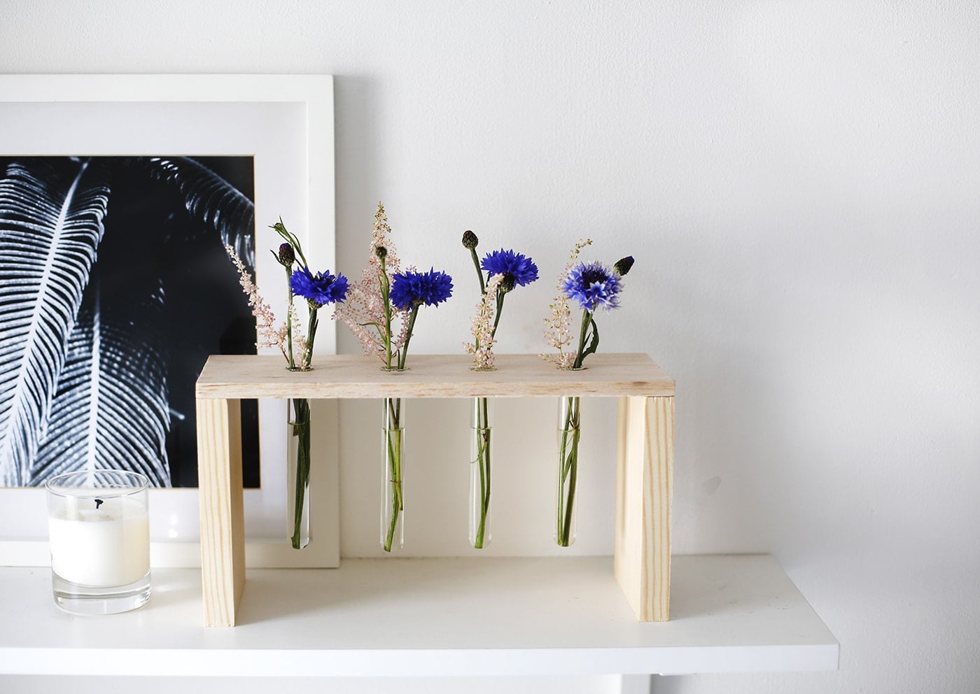 DIY floral display   easy craft tutorial perfect for entertaining   home idea