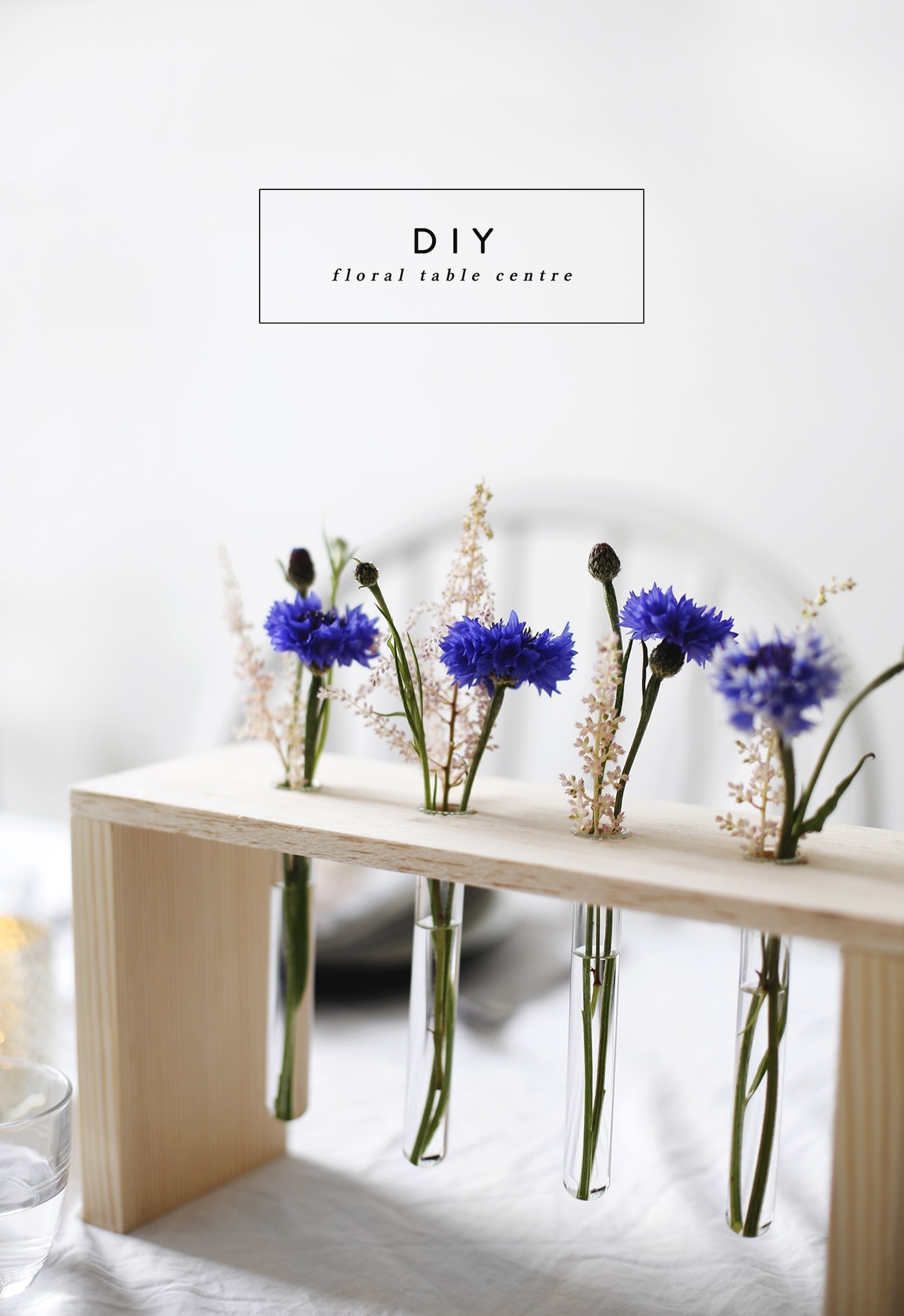 DIY floral table centre | home diy tutorials | a fun way to display flowers
