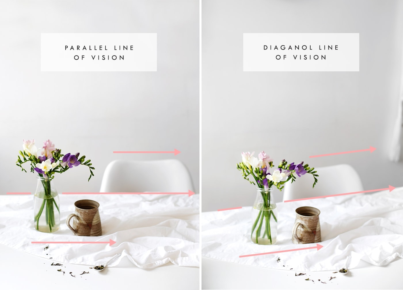blogger photography tips | angle | line of vision