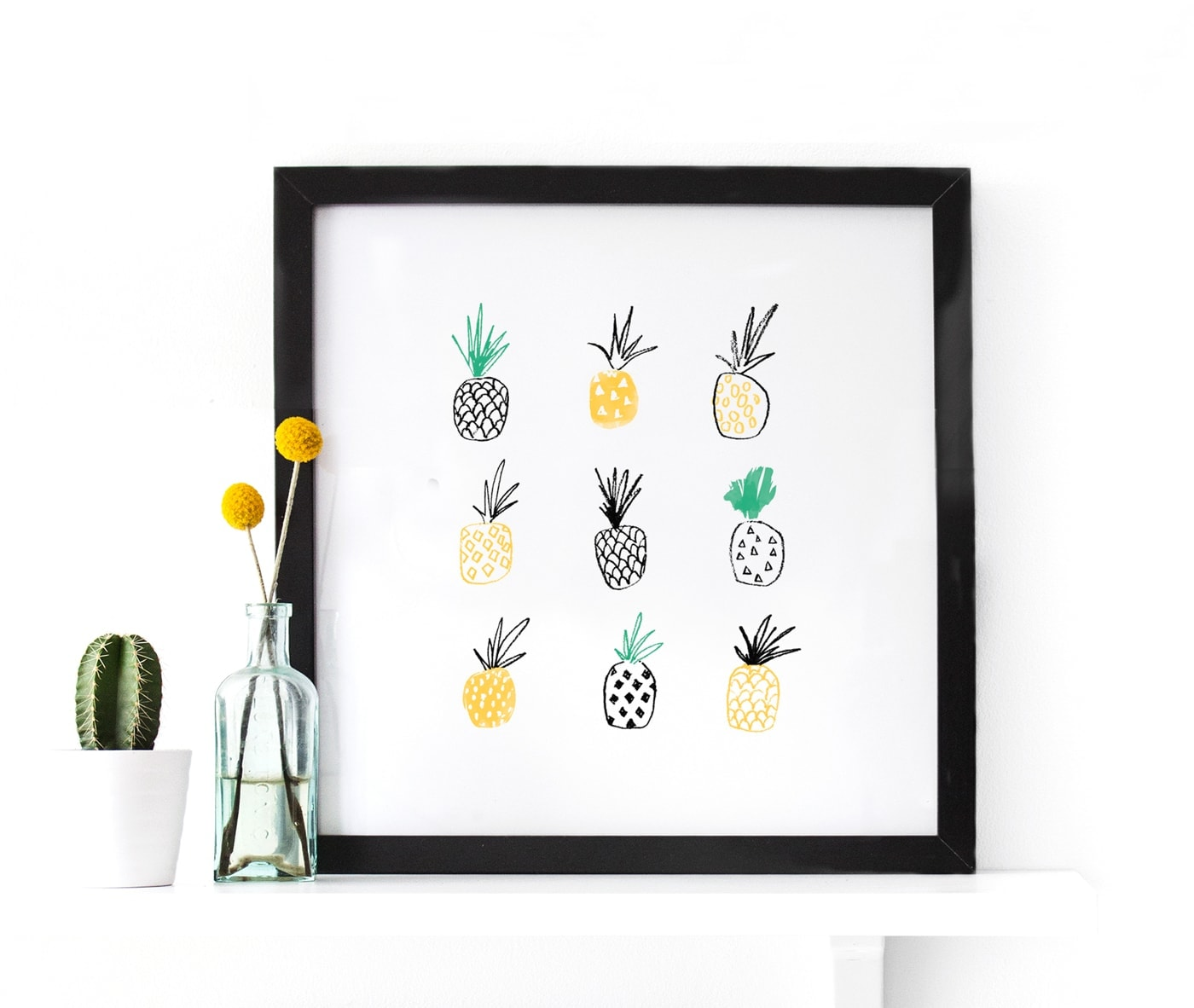 pineapple print | wall art | giveaway