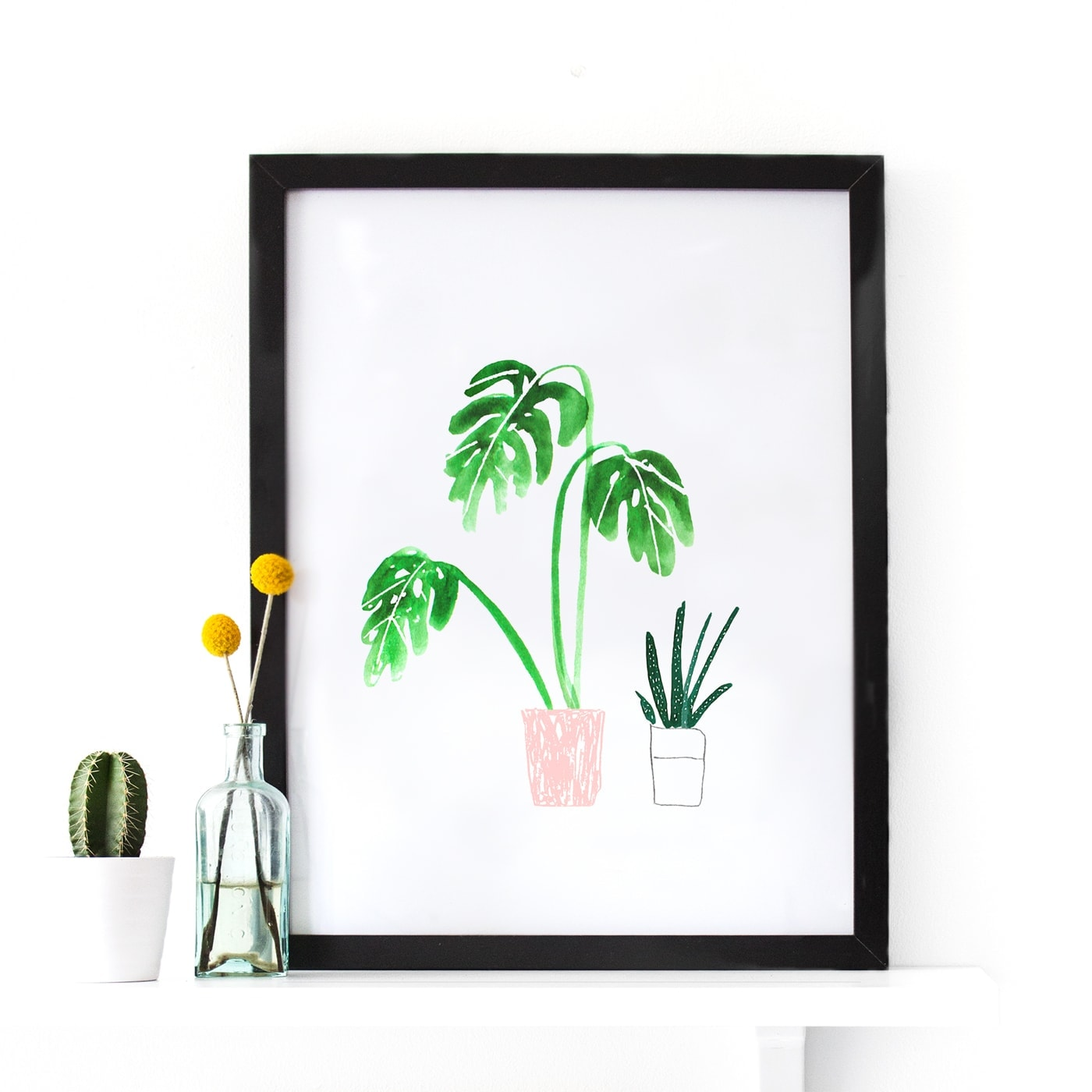 plant pot print | wall art | giveaway