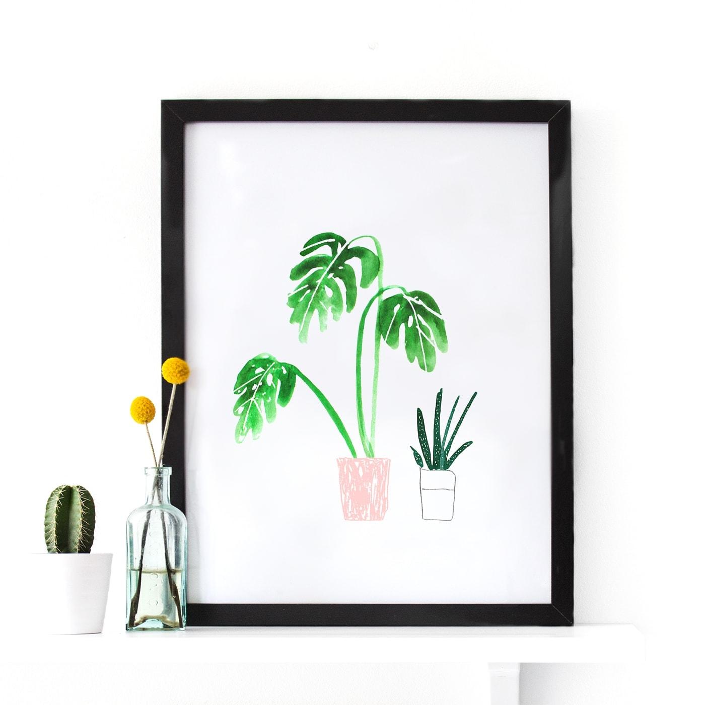plant pot print | wall art | giveaway