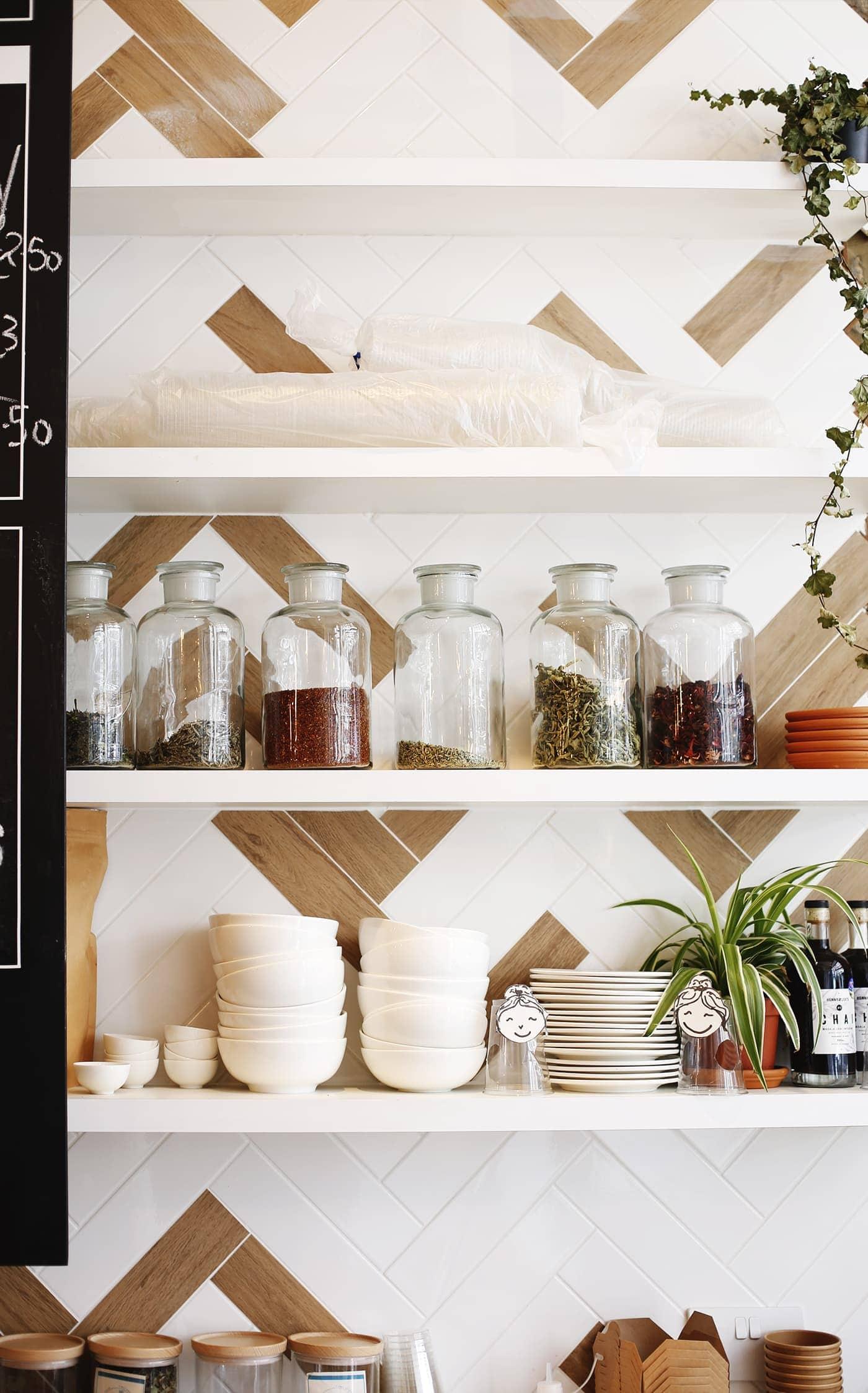 Birthday fun day | Good & Proper Tea shelves