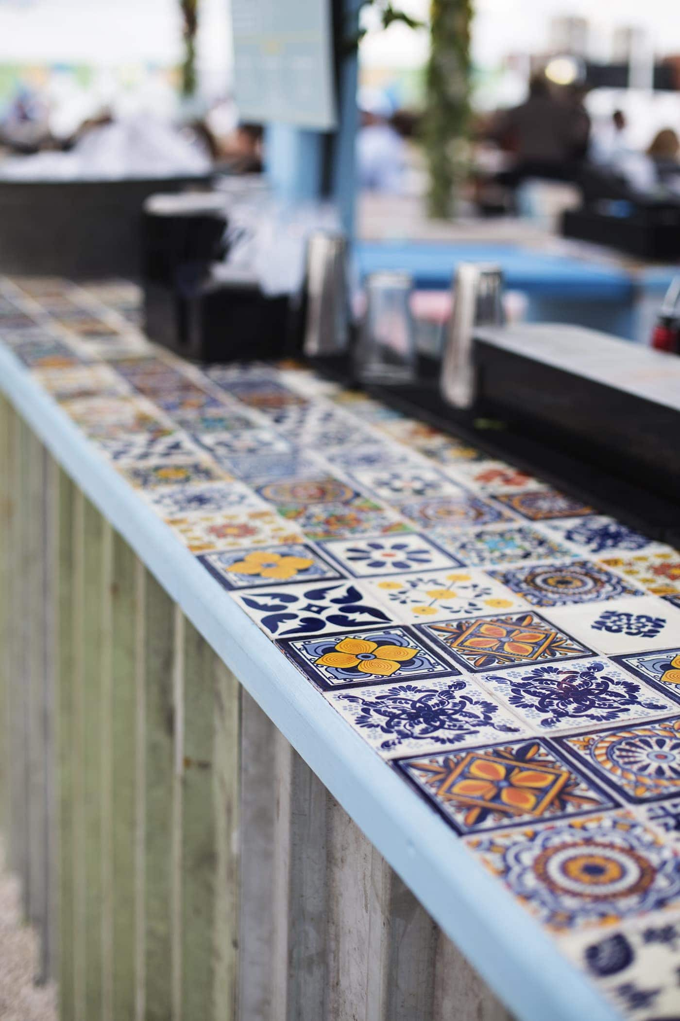Birthday fun day | Pergola on the roof | bar tiles | pattern