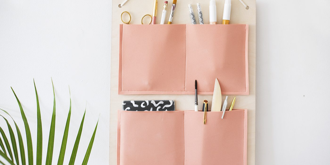 DIY hanging organiser made with plywood | organisation | easy craft ideas