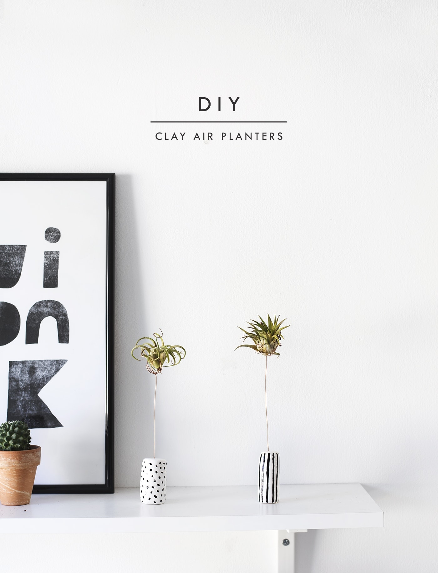 DIY air planters made with clay | easy craft ideas
