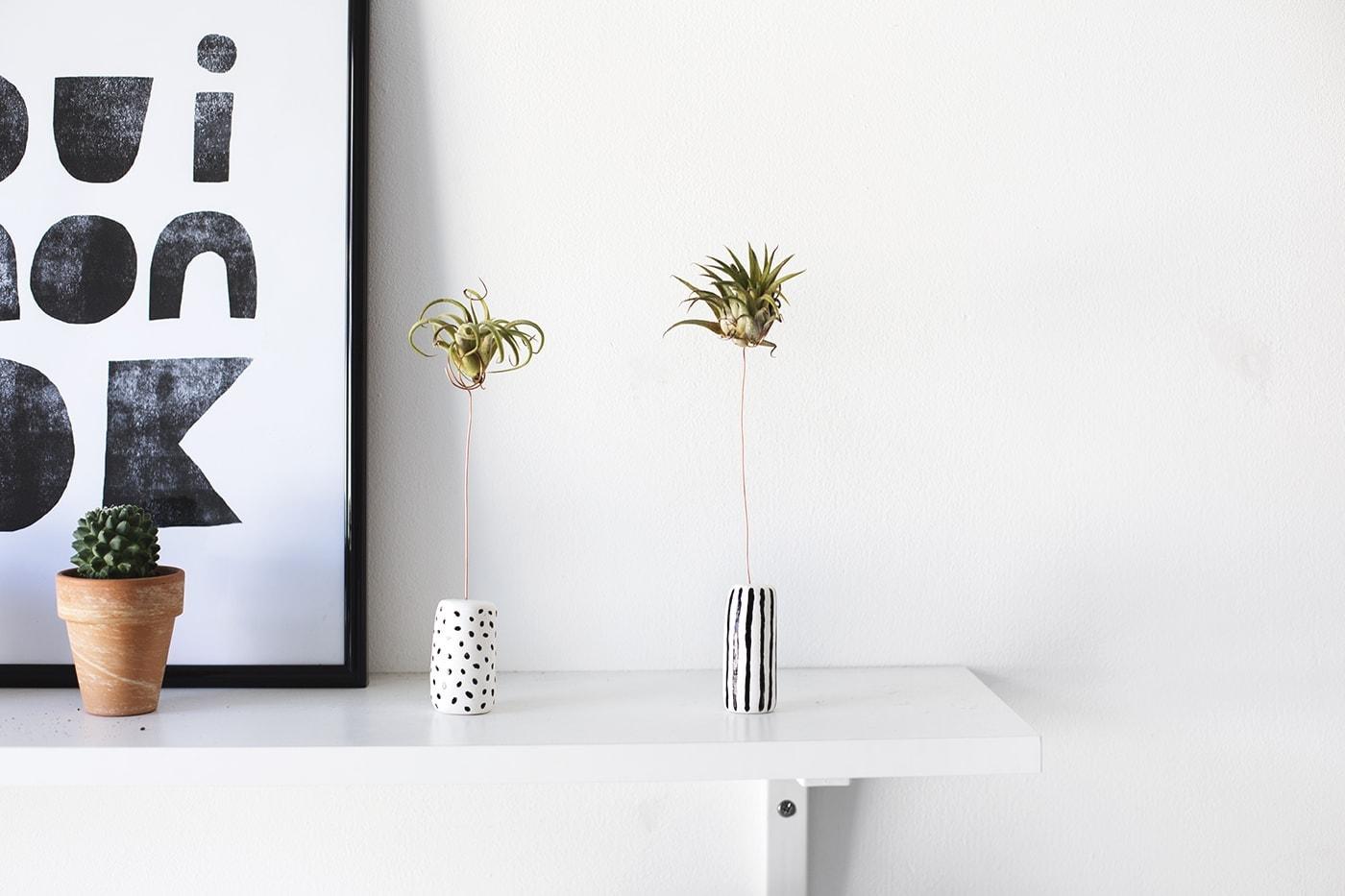 DIY clay air planter holders | easy craft tutorial
