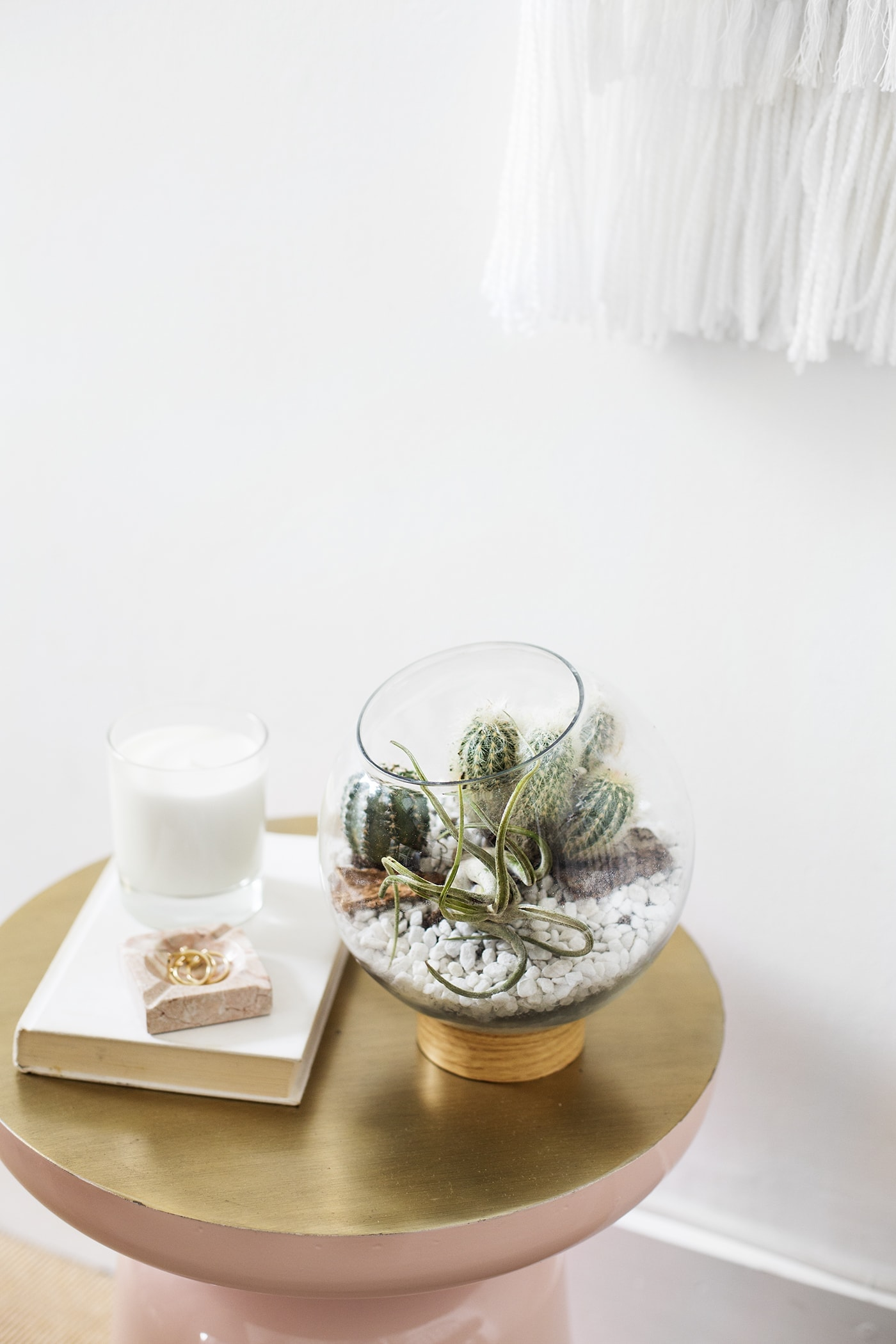 Easy mid century style terrarium project | home DIY | house plants | cacti | craft tutorial