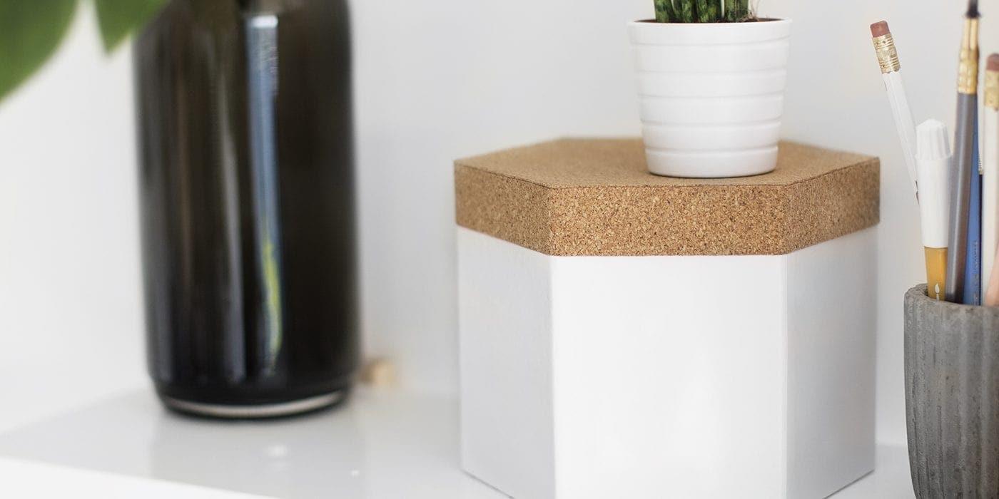 diy cork lid storage box | easy craft tutorial