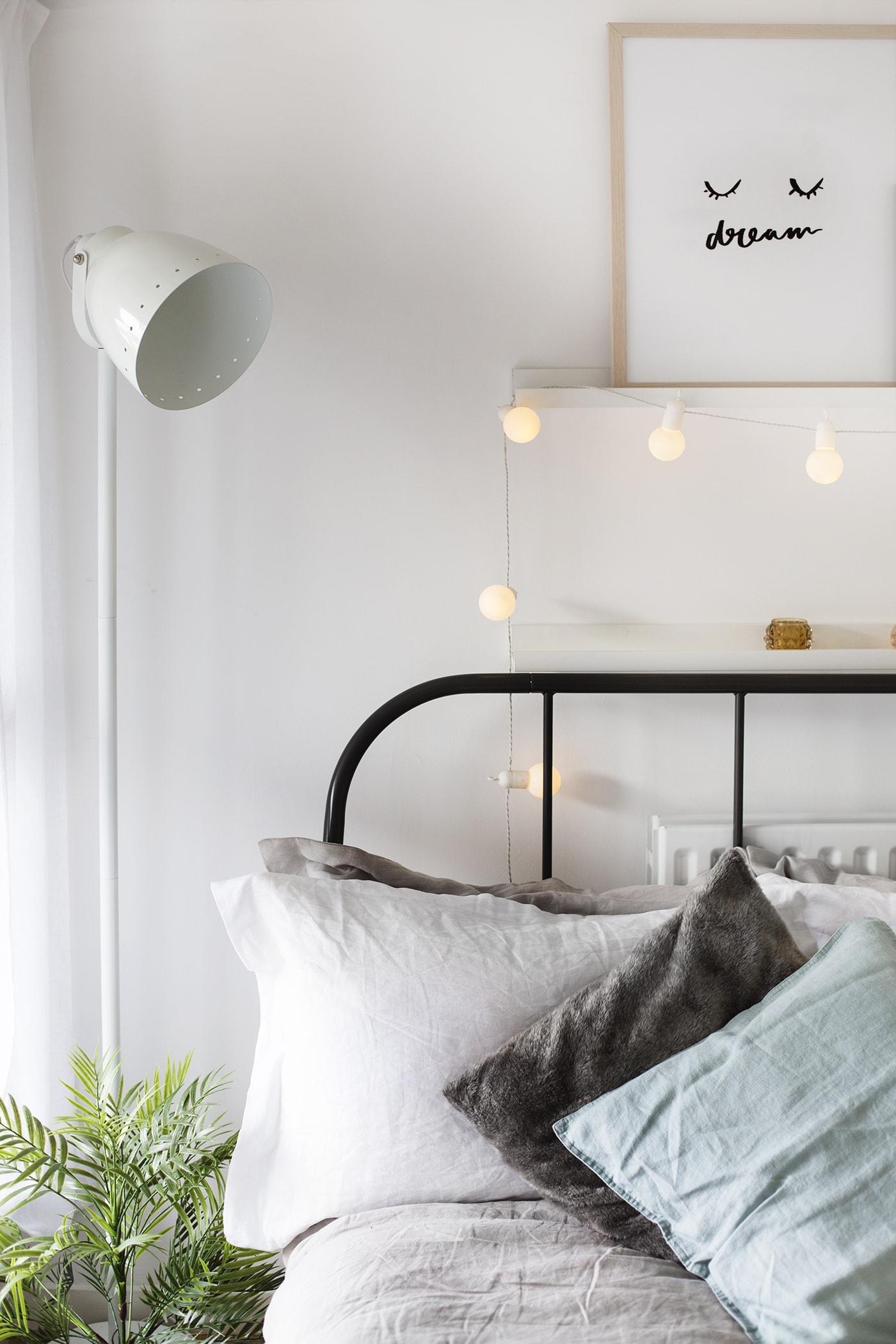 lichtsnoer in slaapkamer