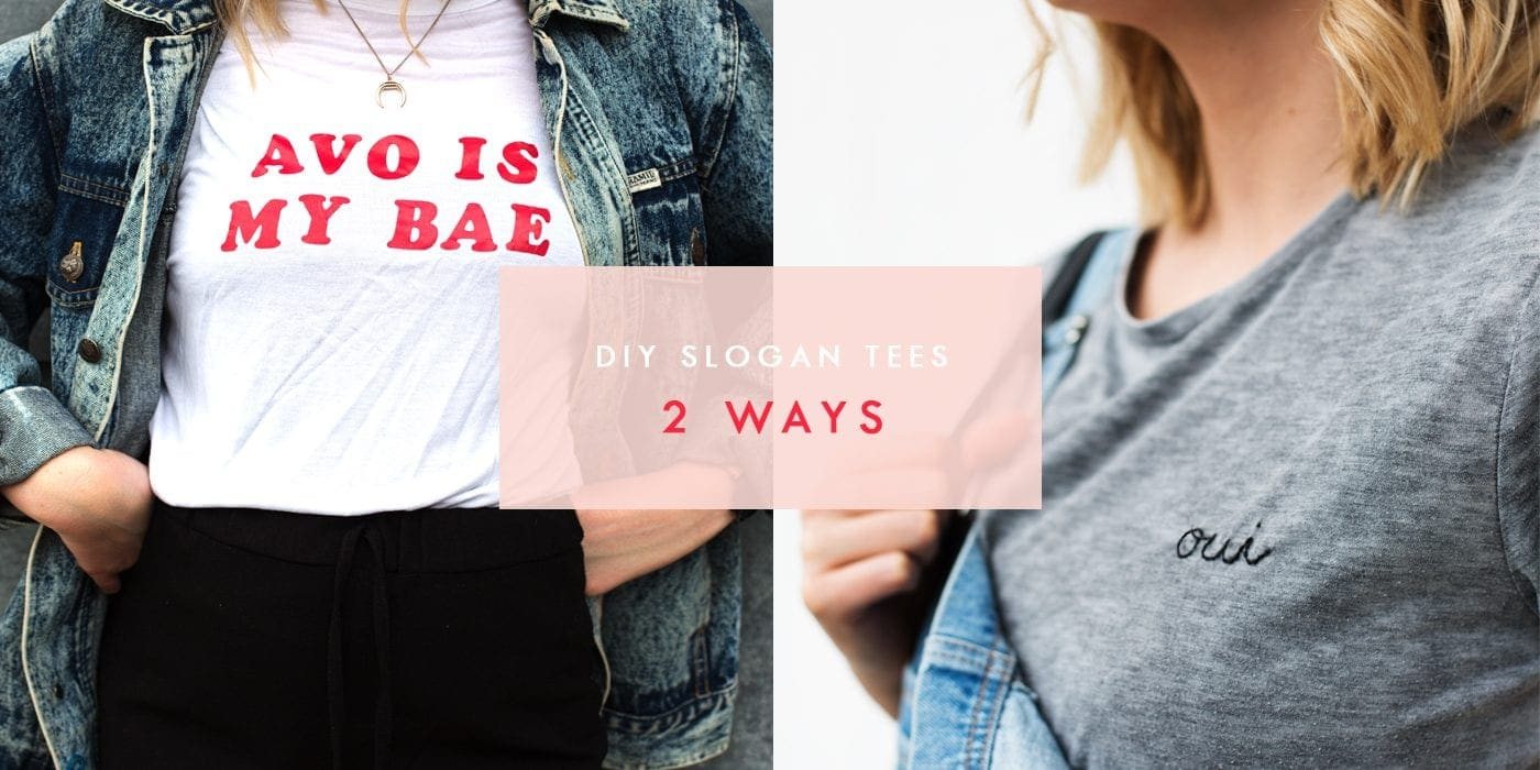 DIY slogan tees 2 ways | easy craft ideas | make your own fashion