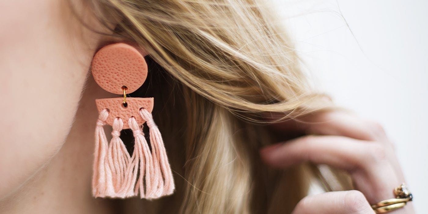 DIY statement tassel earrings