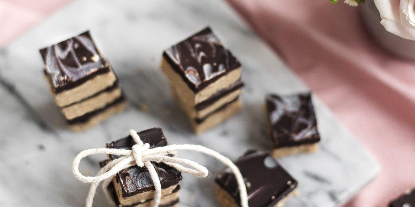 gluten free peanut butter choc squares 5