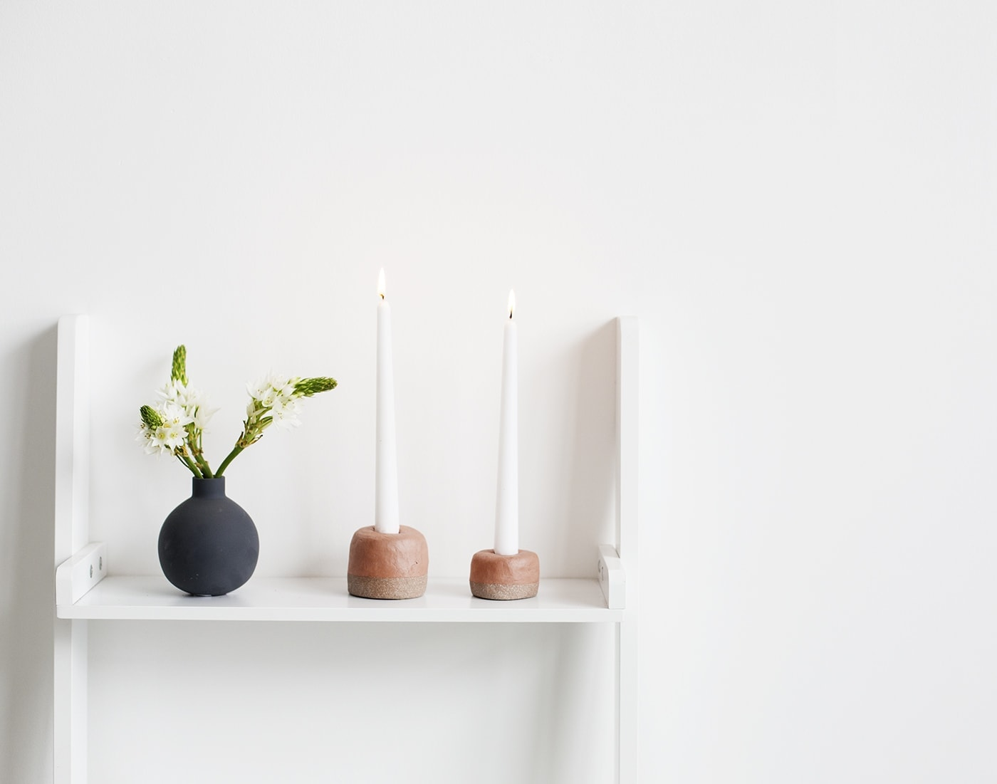 DIY Textured Terracotta Candle Votives by The Lovely Drawer