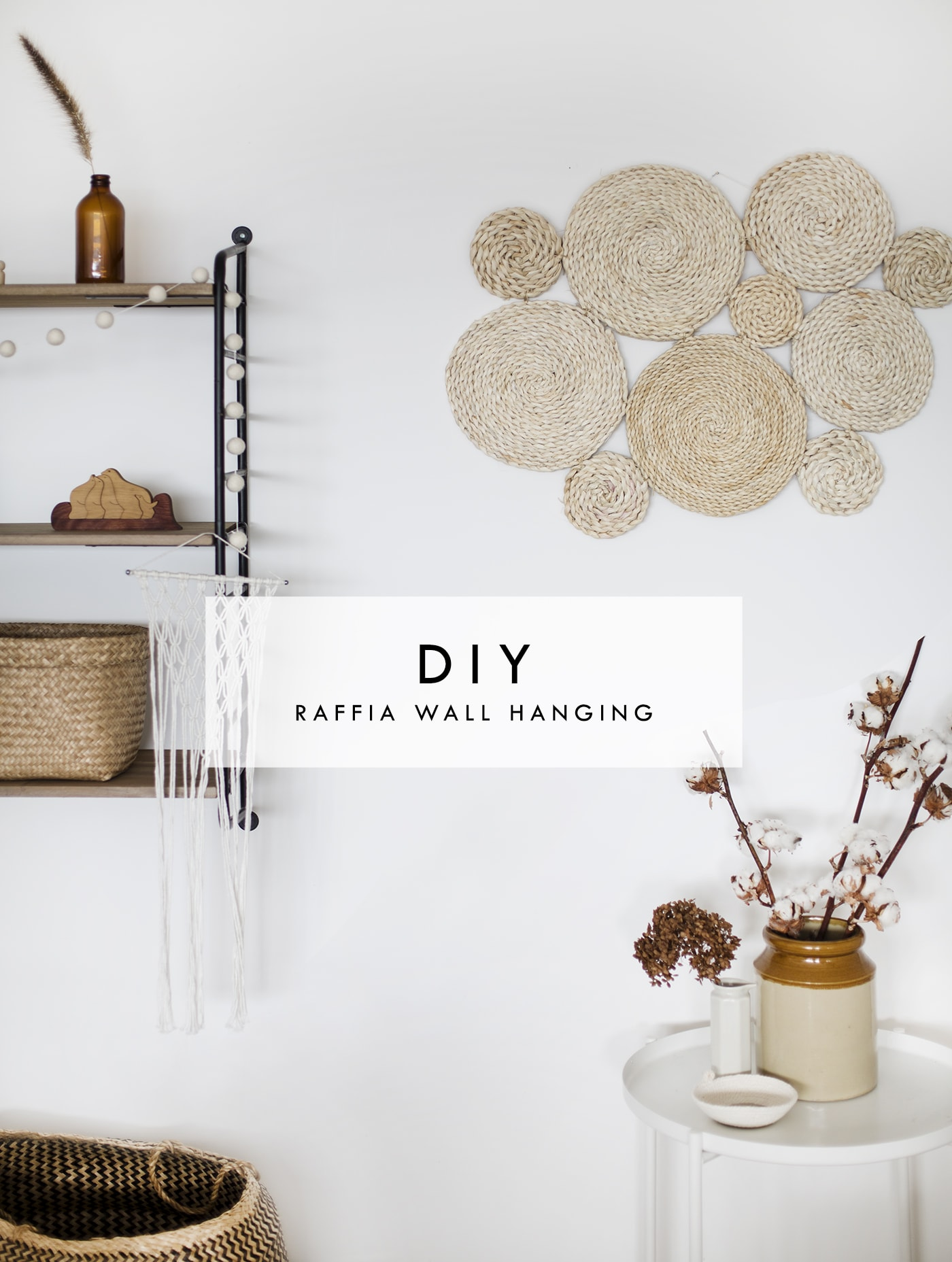 Diy Raffia Wall Hanging The Lovely Drawer