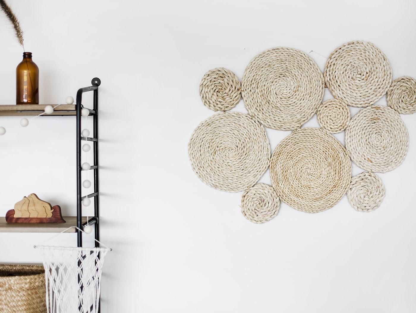 DIY raffia wall hanging 5