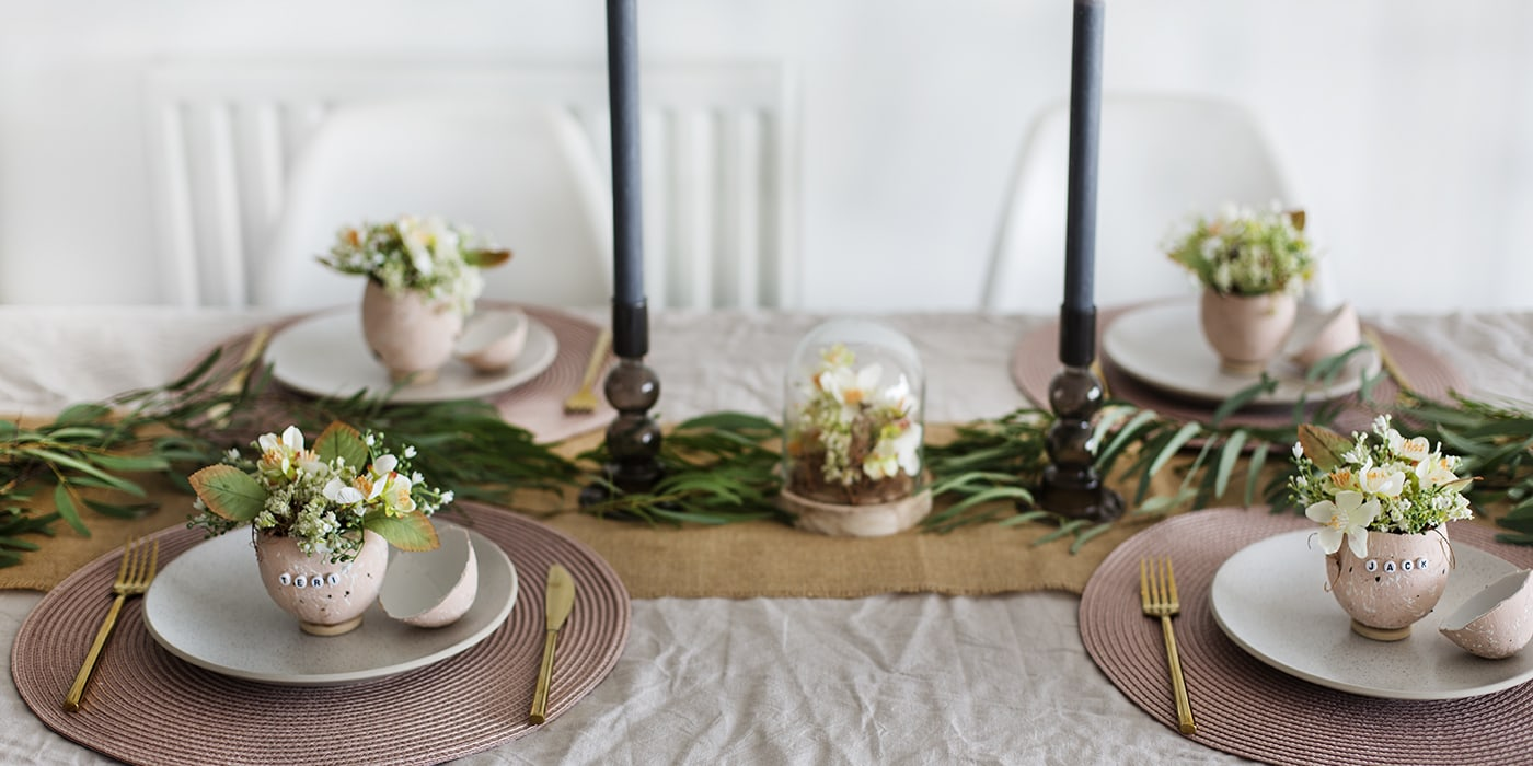 Diy Easter Table Names With Hobbycraft The Lovely Drawer