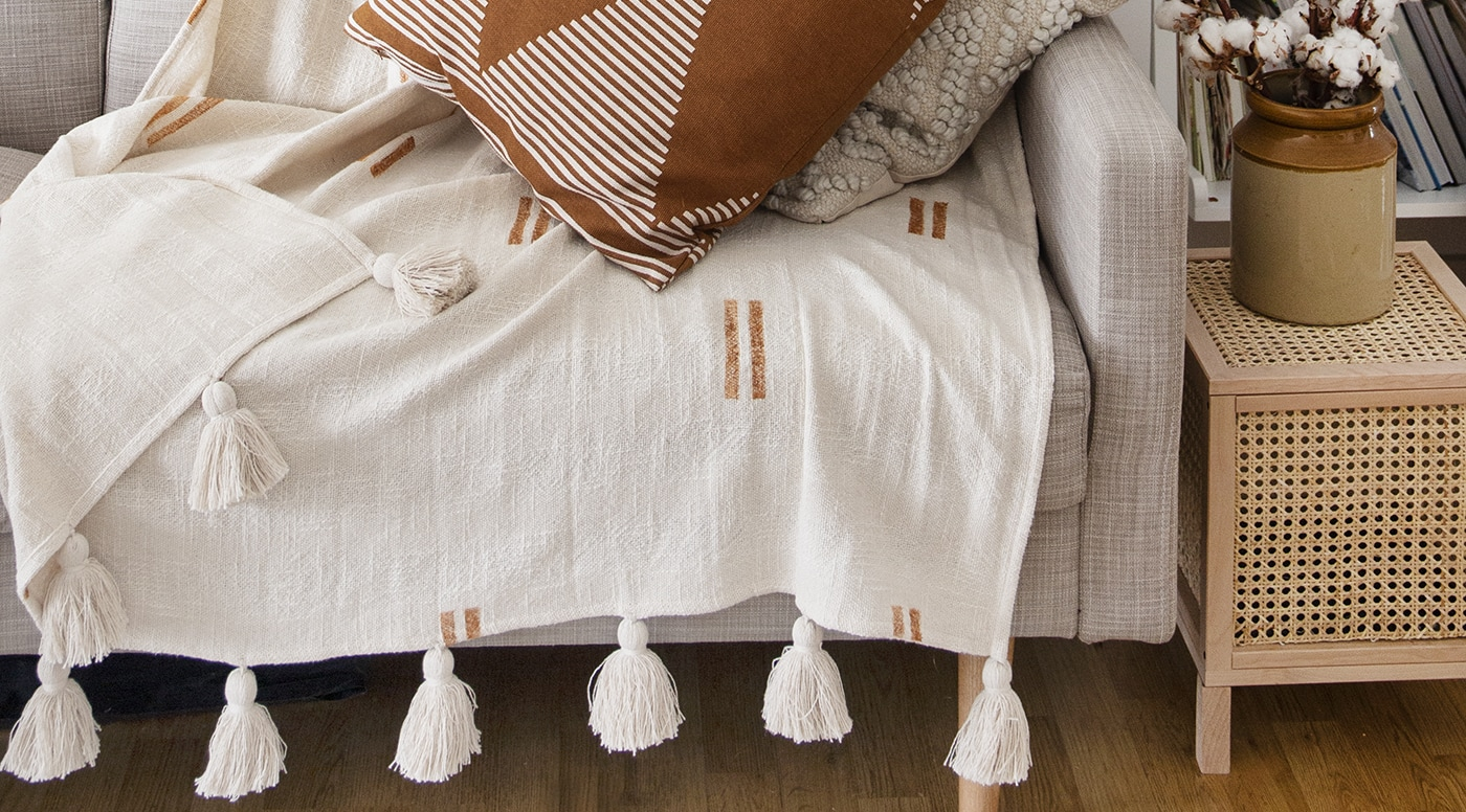 feature mudcloth throw